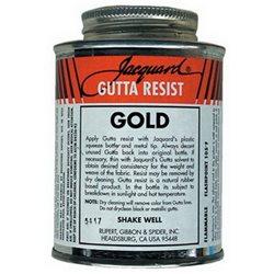 """Гутта-контур на основе растворителя """"Gutta Resist"""" Золото"""
