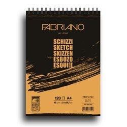 Блок Schizzi 14.8*21, 60 листов, 90 гр на спирали