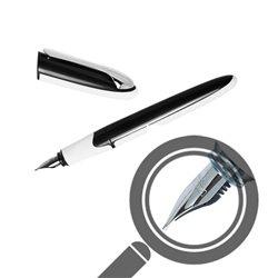 Перьевая ручка AIR Soft корпус черно-белый, перо М