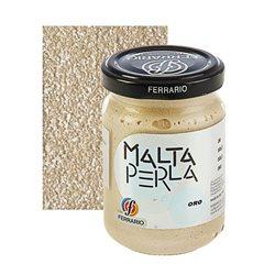 """Паста перламутровая Ferrario """"Malta Perla"""" №02-золото/б.150мл"""