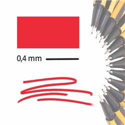 Маркер-лайнер КРАСНЫЙ extra-fine 0,4 мм/ на водн.основе