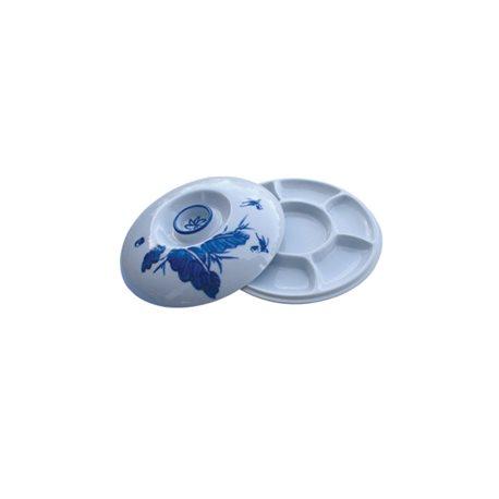 Палитра керамическая круглая 6 ячеек с крышкой