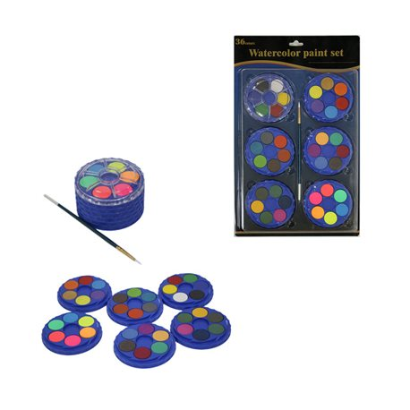 Набор китайских акварельных красок 6 наборов 36цв.