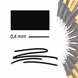 Маркер-лайнер ЧЕРНЫЙ extra-fine 0,4 мм/ на водн.основе