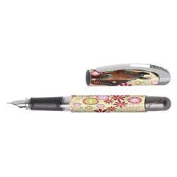 Перьевая ручка College/ перо М, Horse Garden, для девочек