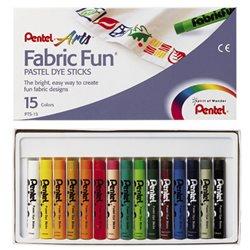 Пастель для ткани FabricFun Pastels 15 шт.