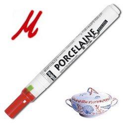 Тонкий маркер по керамике Pebeo Porcelaine (печной сушки 150*С )/алый