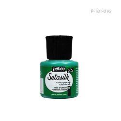 """Растекающаяся краска по светл. тканям """" SETASILK """" Зеленый восточный/45мл"""