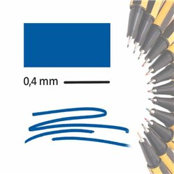 Маркер-лайнер СИНИЙ extra-fine 0,4 мм/ на водн.основе