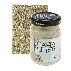 "Паста с блёстками Ferrario ""Malta Glitter"" №10-золото/б.150мл"