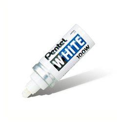 Маркер перманентный White короткий корпус пулеобразный наконечник белый 6,5 мм