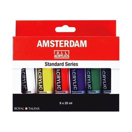 """Набор акриловых красок """"Amsterdam Standart"""" / 6x20 мл в карт."""