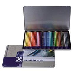 Набор цветных карндашей Van Gogh 36шт. мет. упаковка