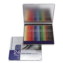 Набор карандашей для набросков Van Gogh метал. 24 шт.