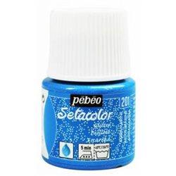 Нерастекающаяся краска по свет. тканям Setacolor LightFabrics Glitter аквамарин