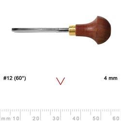 Штихель для линогравюры прямой овальный Pfeil L12/4