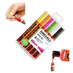 Набор маркеров Molotow 227HS Неоновые цвета, 6 цв.х 4 мм