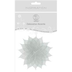 Декоративные листья. Серебро