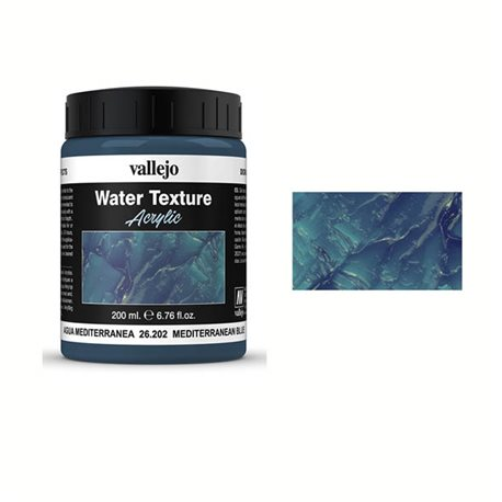 Акриловый медиум Vallejo Эффект воды - Средиземноморский голубой