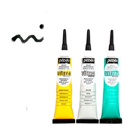 Рельеф для красок по стеклу Pebeo Vitrea 160/Черные чернила