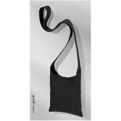 Сумка черная с длинной ручкой из плотного х/б под роспись Pebeo/88x22 см