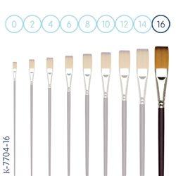 Синтетика № 16 плоская бордовая удлиненная ручка