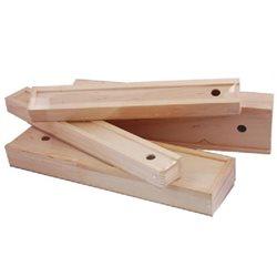 Пенал для кистей деревянный, внутр.размер 254х60х28