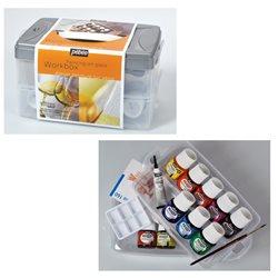 Набор красок по стеклу Pebeo Vitrea 160 Workbox / 10х45мл.