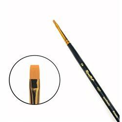 Кисть синтетика плоская №2 удл.ручка Roubloff 1327