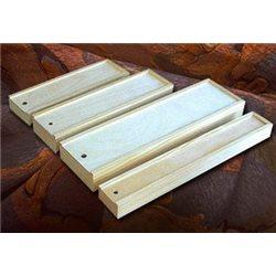 Пенал для кистей деревянный, внутр.размер 330х80х28