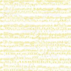 """Бумага для Scrapbooking, калька, 30,5х30,5см """"Ноты"""", Белый/золотой"""