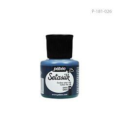 """Растекающаяся краска по светл. тканям """" SETASILK """" Оникс/45мл"""