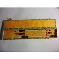 Н-р из 3-х бамбуковых кистей д/каллиграфии
