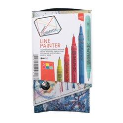 Набор из 5 м/лайнеров GRAPHIK Line painter / Палитра 01