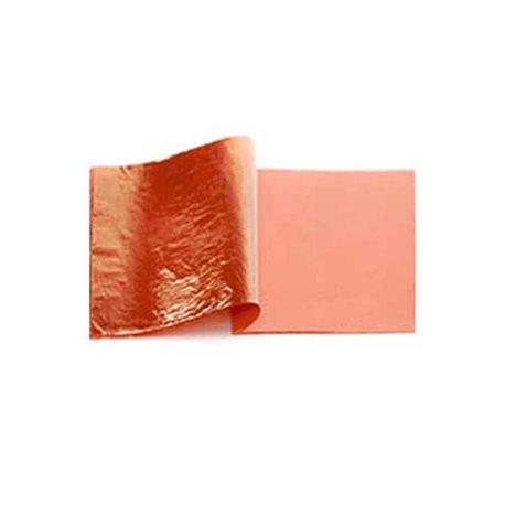Поталь в листах - имитация меди №2/ 140 х 140 мм 25 лист, блистер