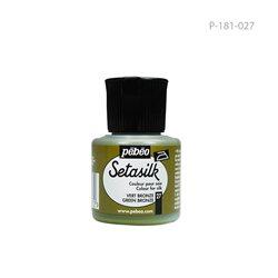 """Растекающаяся краска по светл. тканям """" SETASILK """" зеленая бронза/45мл"""