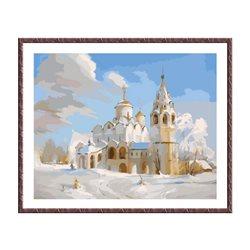 Зимняя церковь картина по номерам