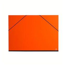 Папка для хранения работ 52х72/ картон, с резинк./ оранжевая