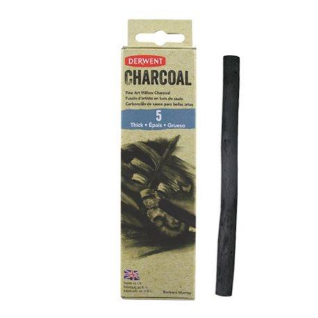 Уголь ивовый Willow Charcoal /толстый 7-9мм/ 6 шт.