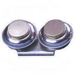 Масленка двойная.металл. с крышкой d-5.5 см.