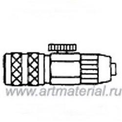 Муфта быстроразъем. Д.5 с гайкой под ПВХ шланг 4/1мм c регулятором подачи воздуха