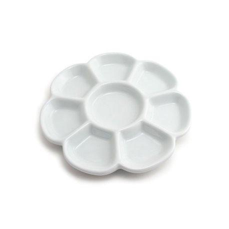 Палитра керамическая круглая 8 ячеек/ D 18см