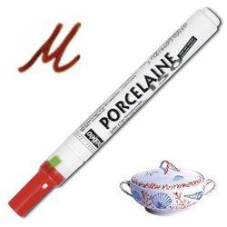 Тонкий маркер по керамике Pebeo Porcelaine (печной сушки 150*С )/коричнев.(земля)
