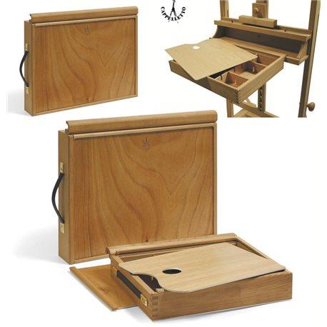 Ящик художника ( 35х43 см), крепящийся к мольберту