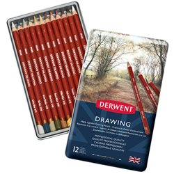 """Набор цветных карандашей """"Drawing""""/12 в мет. коробке"""