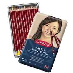 """Набор пастельных каранд. Pastel Pencil """"Skintones"""" /12цв.в мет.кор."""