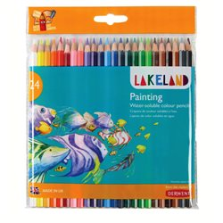 """Набор акварельн. каранд. """"Lakeland Painting""""/24 цв./блистер"""