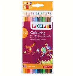"""Набор цветных каранд. """"Lakeland Colouring"""" /12 цв. в блистере"""