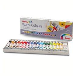 Акварель Pentel Water Colours, 18 цветов