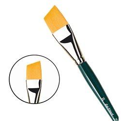 Кисть плоская скошенная Da Vinci NOVA 1373/синтетика/дл. ручка/№20